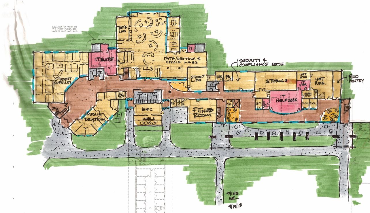 Harrison Campus Renovations Sketch