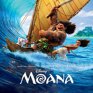 Moana Movie night thumbnail poster