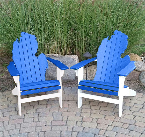 Two Michigan themed chairs.