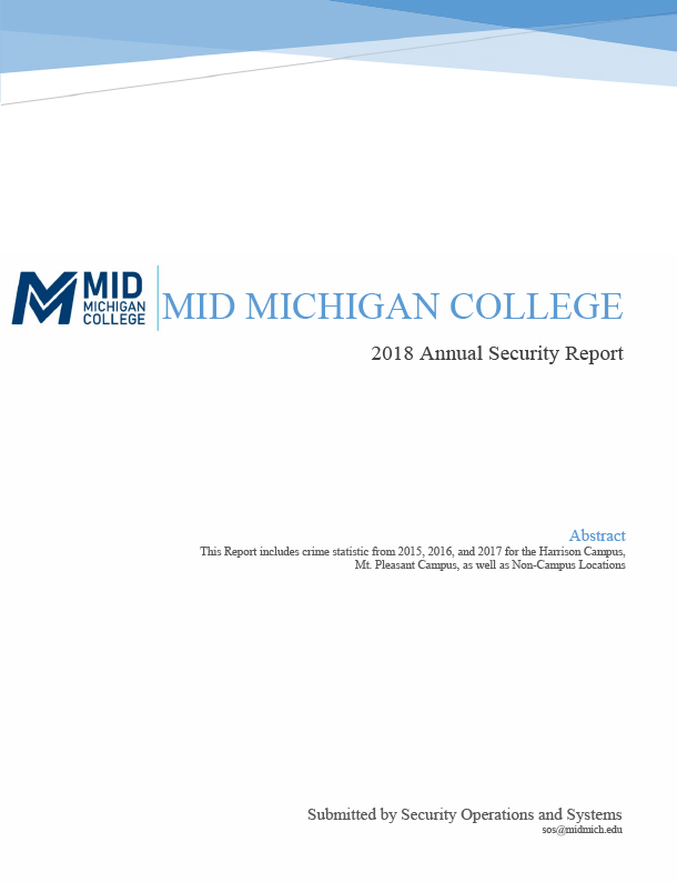Mid Michigan College Annual Security Report 2018