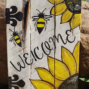 Pallet painting thumbnail - A summer welcome project