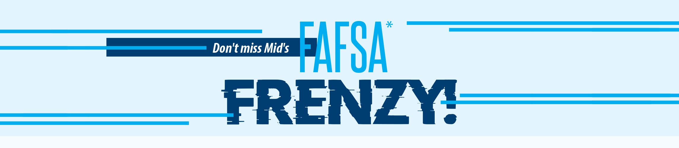 FAFSA FRENZY landing page