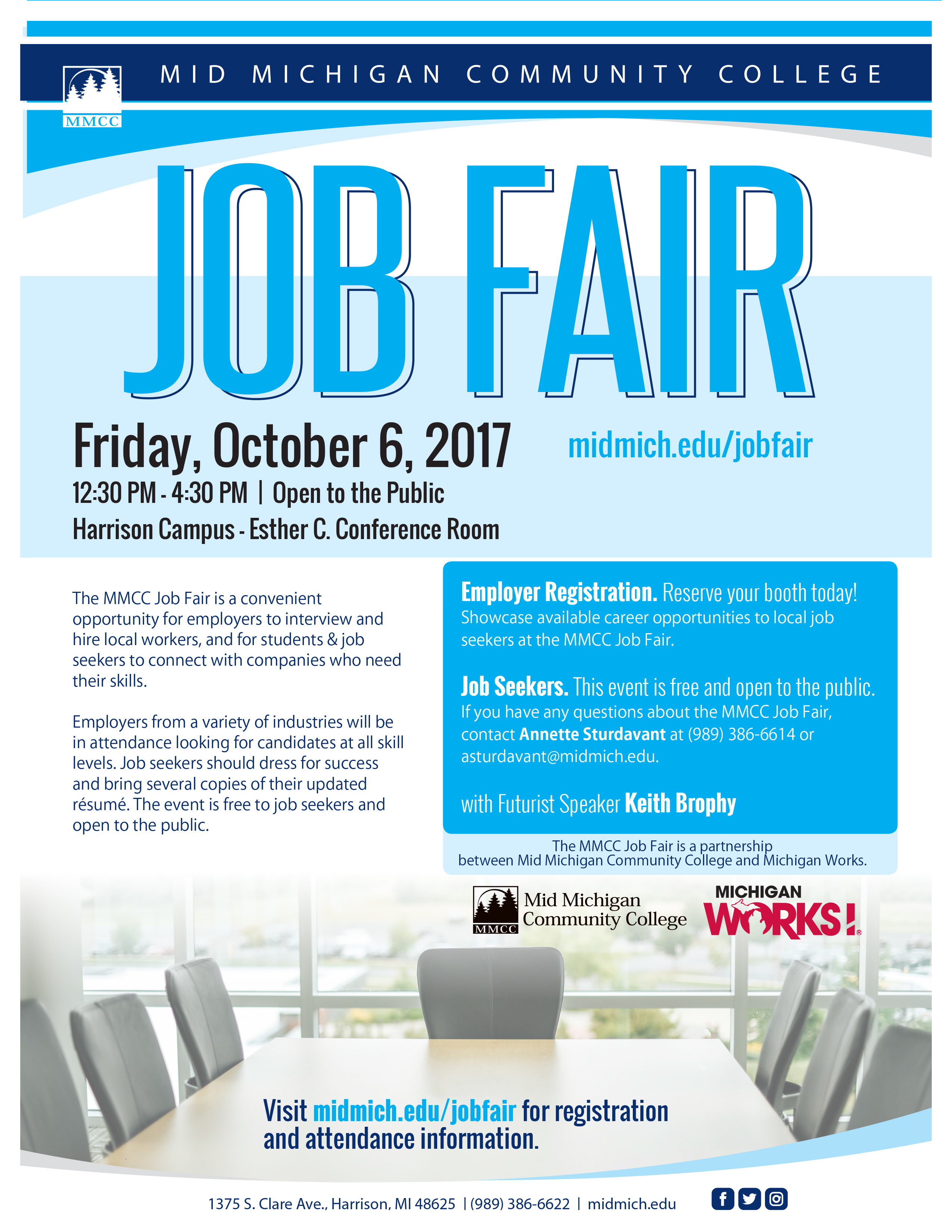 For More Information About MMCCu0027s Job Fair, Visit Midmich.edu/jobfair Or  Contact Annette Sturdavant At Asturdavant@midmich.edu Or (989) 386 6614.  Michigan Works Resume