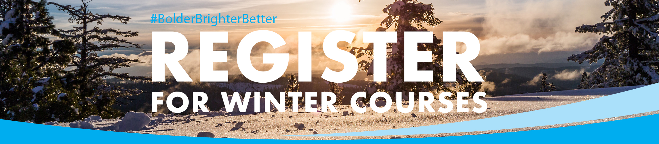 Register for Winter Landing page