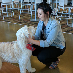 Therapy Dogs visit the Mt. Pleasant Campus