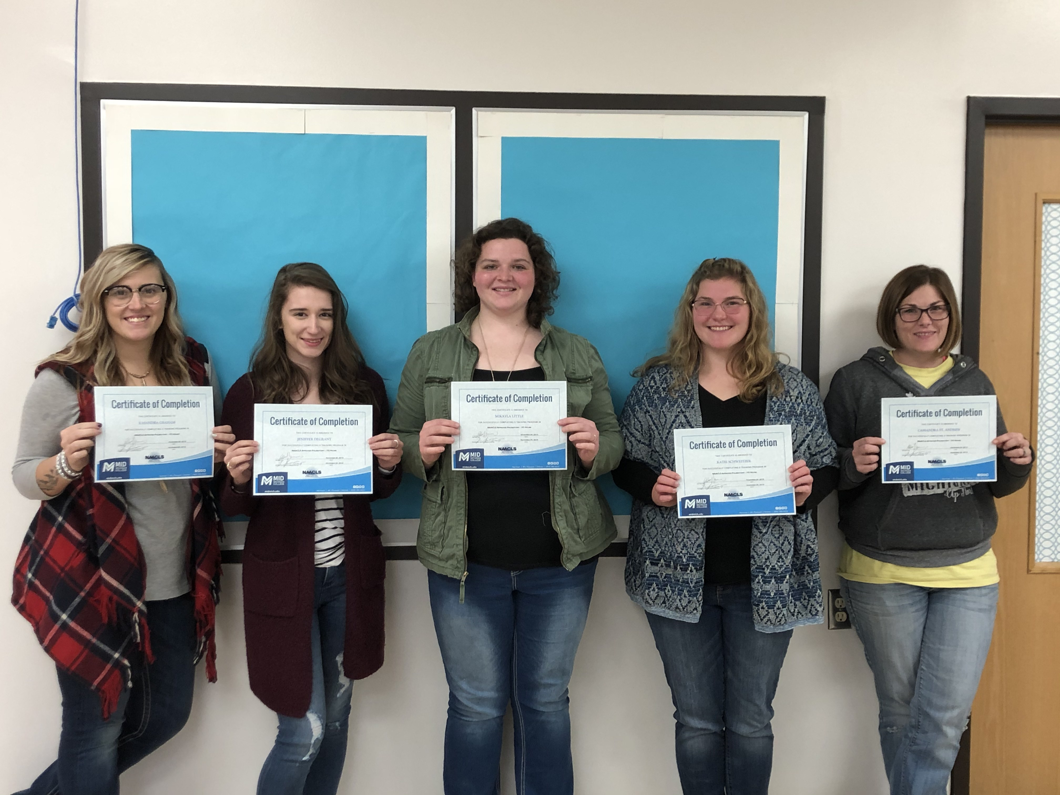 Phlebotomy Training Participants from Bad Axe