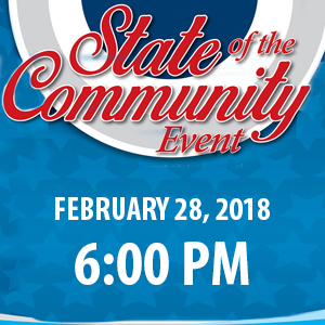 state of the community event logo
