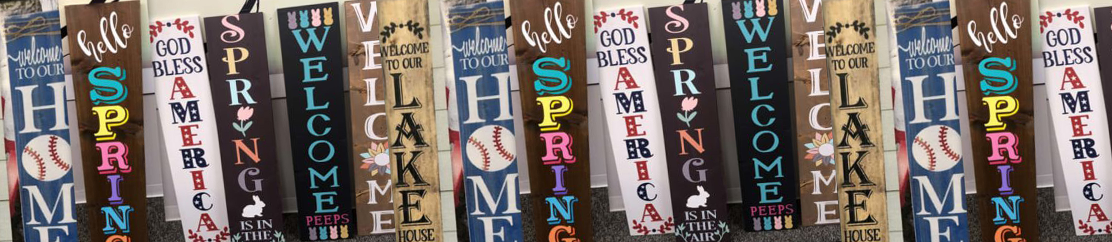Spring Porch Sign Examples