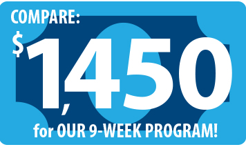 Text that reads Compare $1450 for OUR 9-WEEK PROGRAM!