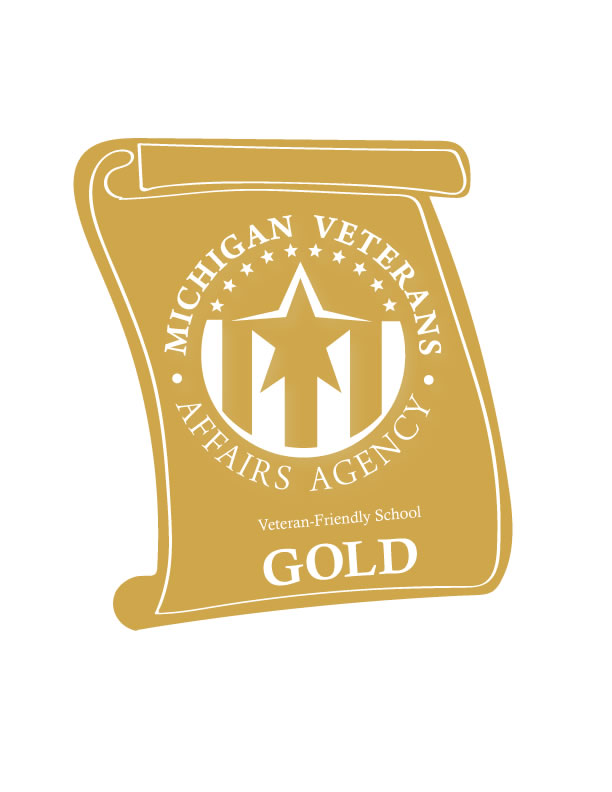 Michigan Veterans Affairs Agency has rated Mid Michigan Community College Gold for their service to their Veteran students