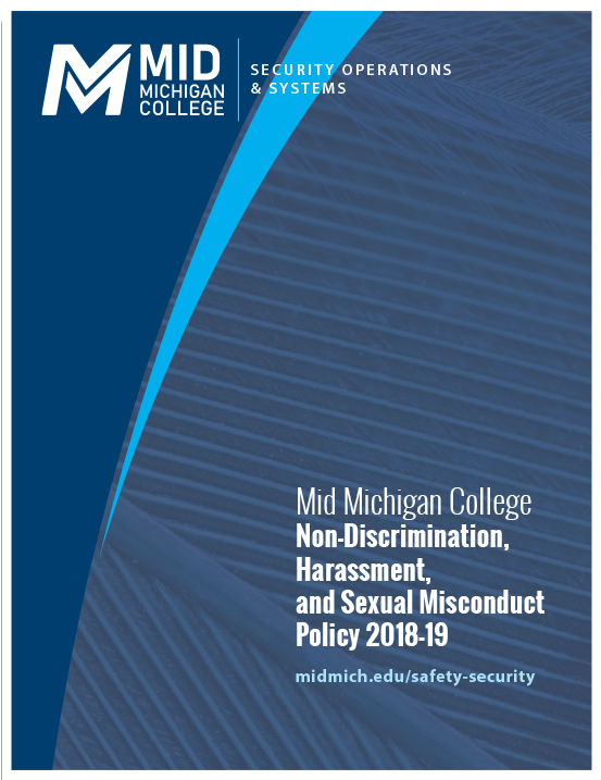 Image of Cover of Mid Michigan College's Title IX policy as a downloadable PDF
