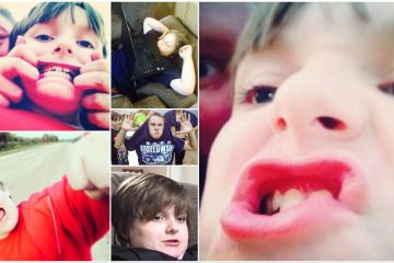 A collage of my children.