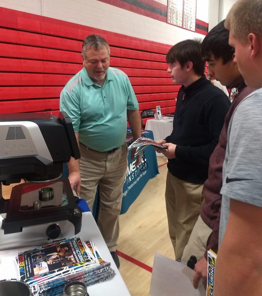 Aircraft Precision Products shares technology with St. Louis High School students.