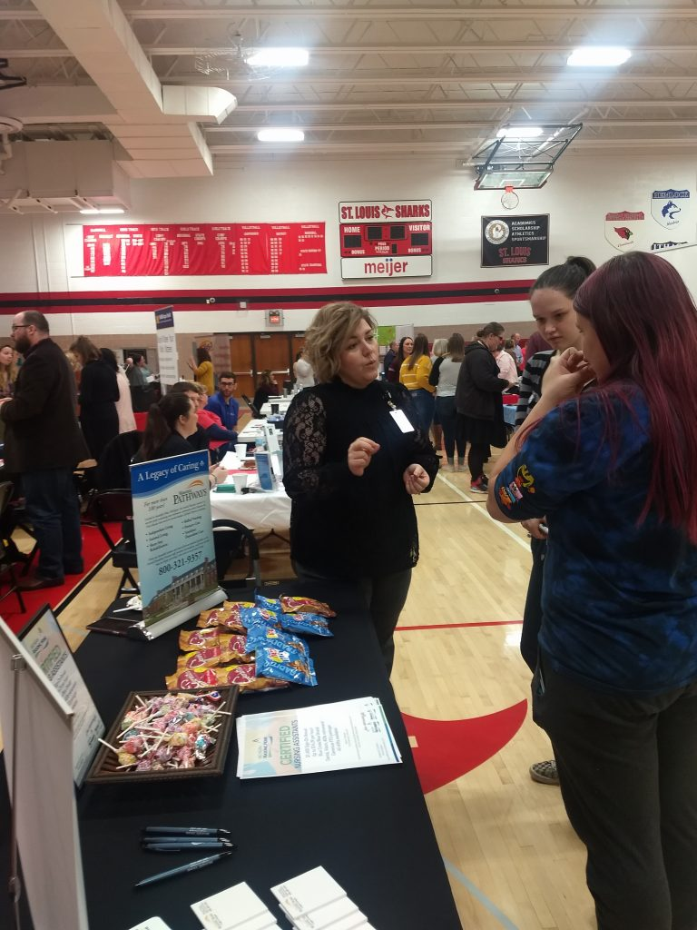 This HR Gal from Masonic Pathways and The Warwick  Living Center is really covering territory to encourage students with their Career Path choices.