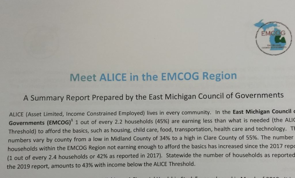 Title and paragraph 1 of the EMCOG ALICE report