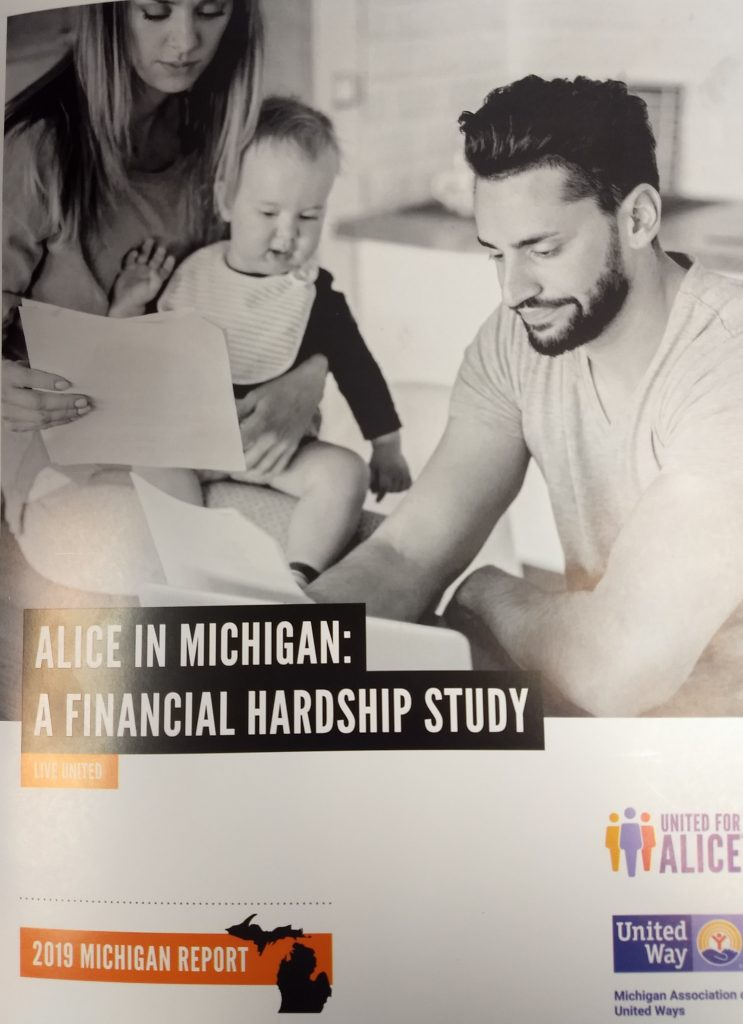 Cover of the ALICE in Michigan: A Financial Hardship Study