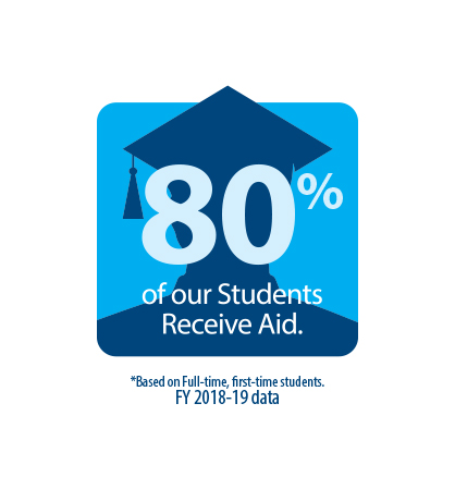 80 % of our student receive aid